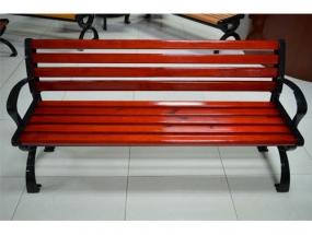 朱红色经典款靠背园林椅